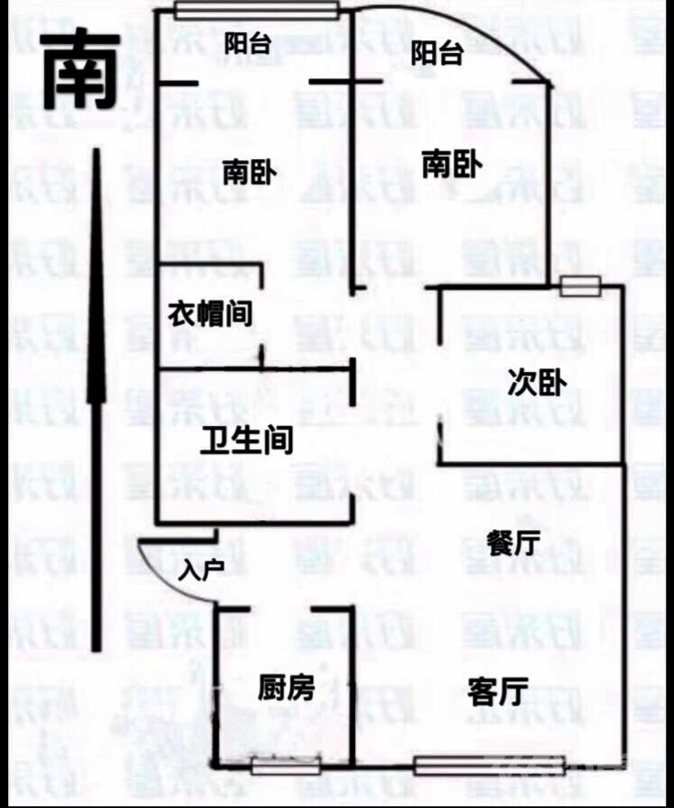 钟楼金禧园3室2厅1卫132�O