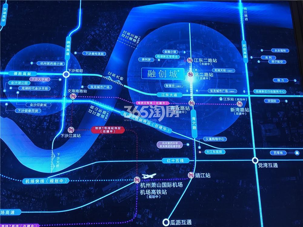 融智创城交通图