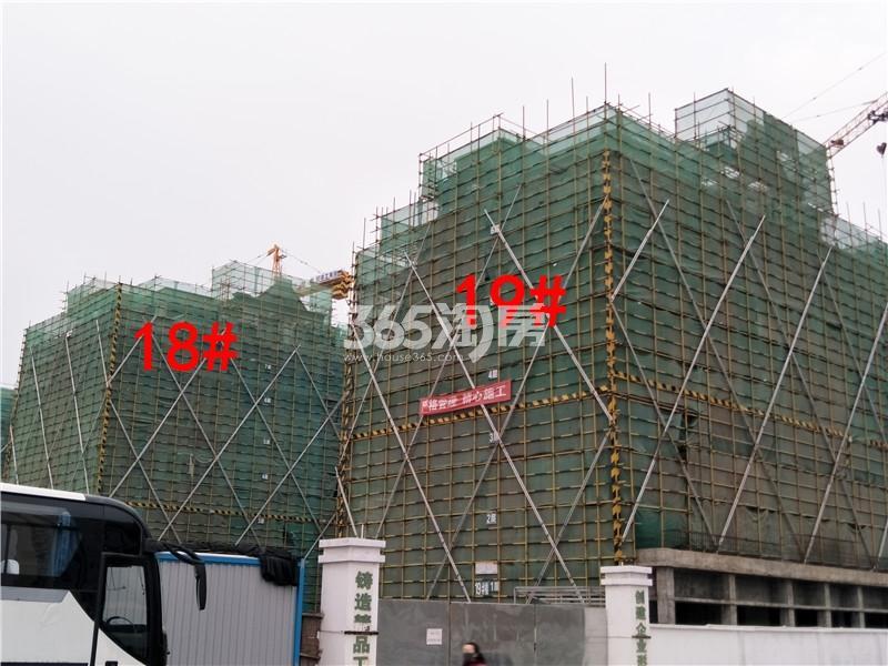绿地理想城悦湖公馆在建18、19#楼实景图(4.4)