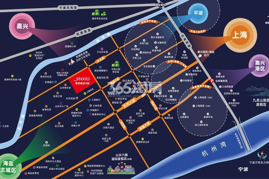 锦绣商业中心交通图
