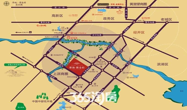 华地紫金府交通图
