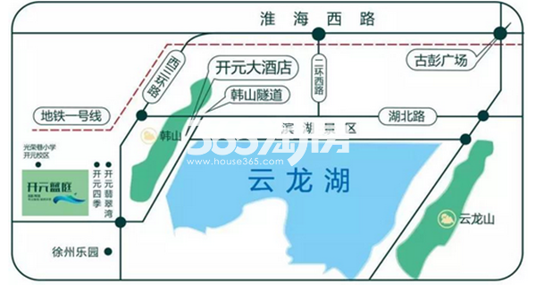开元蓝庭区位图(8.23)