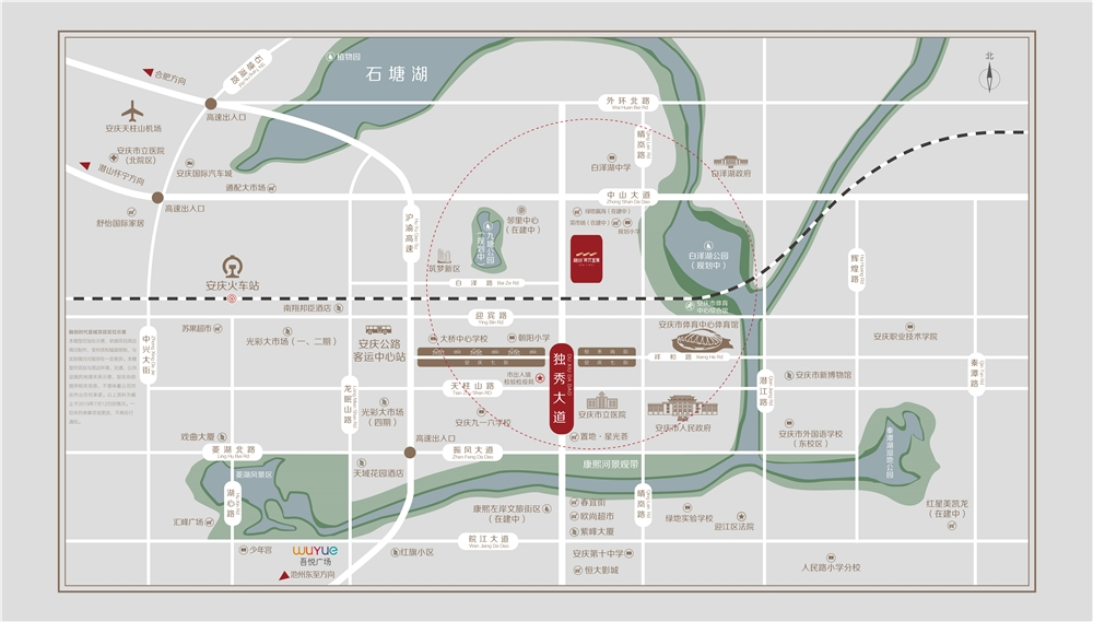 融创时代宜城交通图