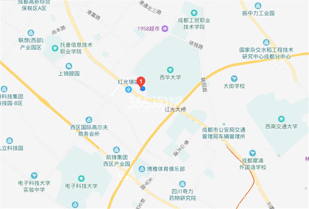 领地金科蘭台府交通图