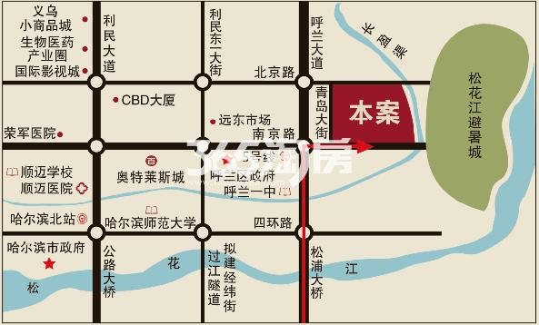 辰能溪树河谷交通图