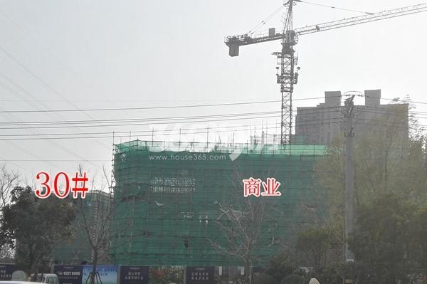 恒大滨河左岸30#楼及商业实景(12.14)
