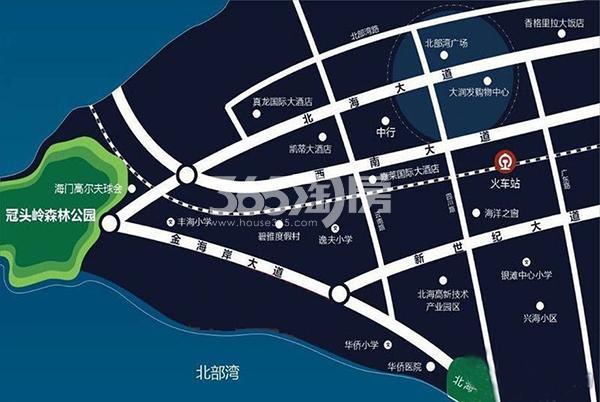 大都金沙湾交通图