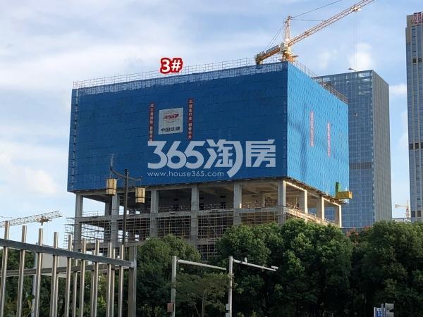 宝能城B地块3#楼工程进度实景(2018.9摄)