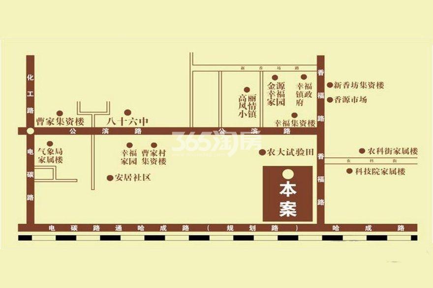 恒隆华府交通图