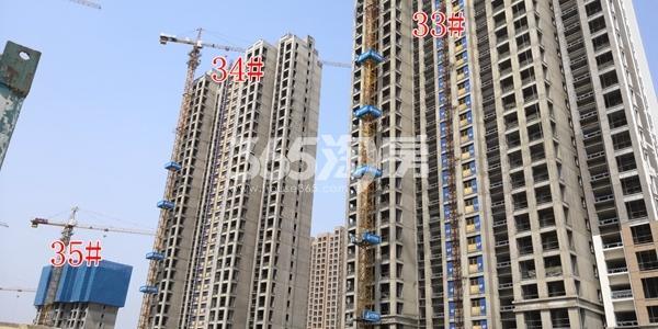 荣盛花语城二期33、34#楼已封顶、35#楼建至约10层(3.28)