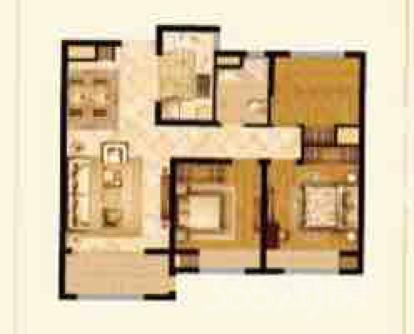 东城金茂悦3室2厅1卫89平米精装产权房2016年建