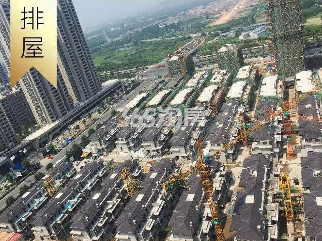 2018年8月融信澜天排屋俯拍实景图
