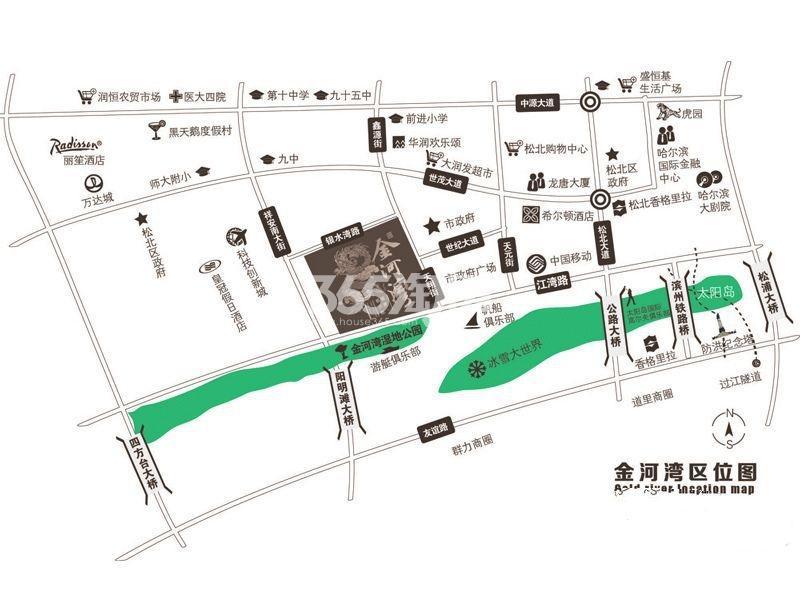 金河湾壹号交通图