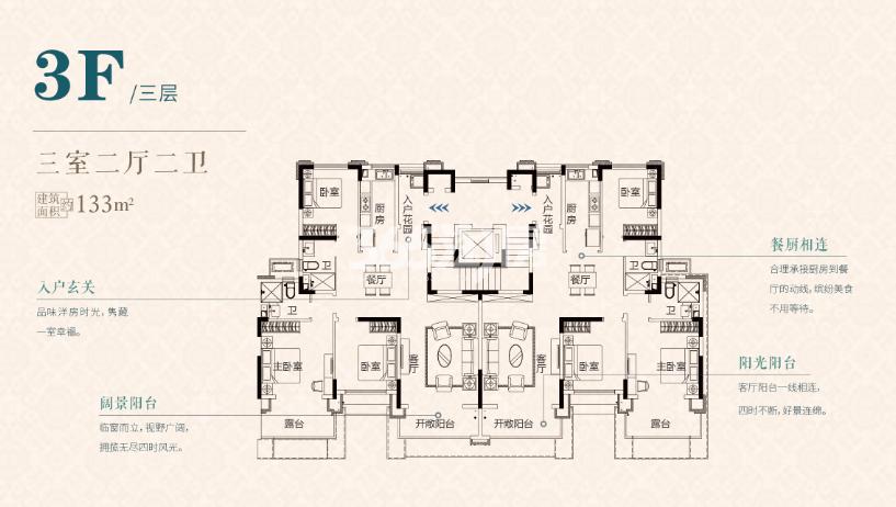 S2三层133㎡户型
