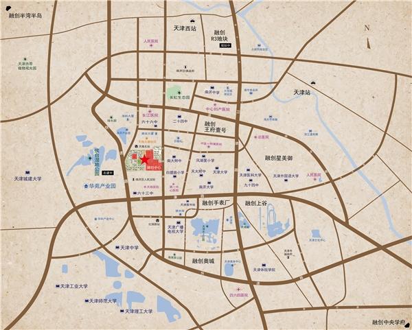 融创中心交通图