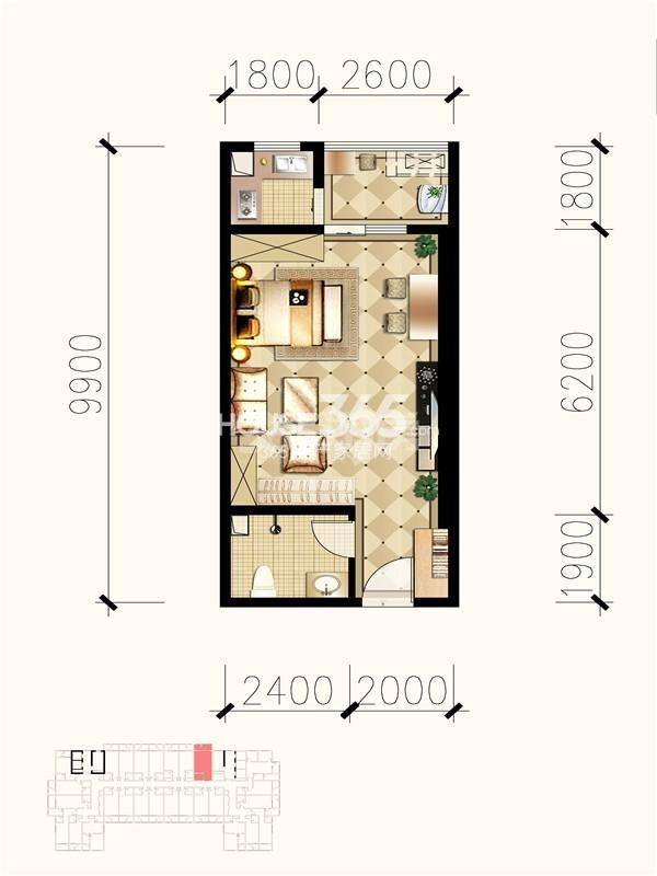 九锦1号b1户型图