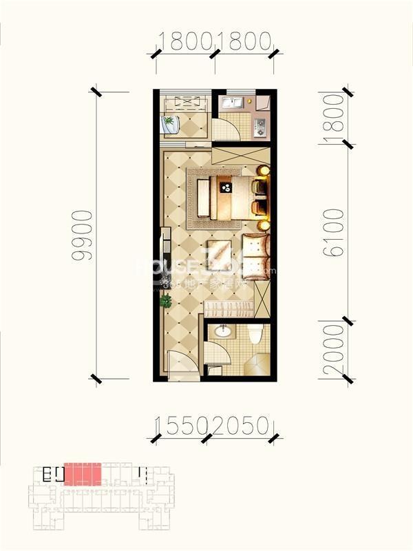 九锦1号c户型图