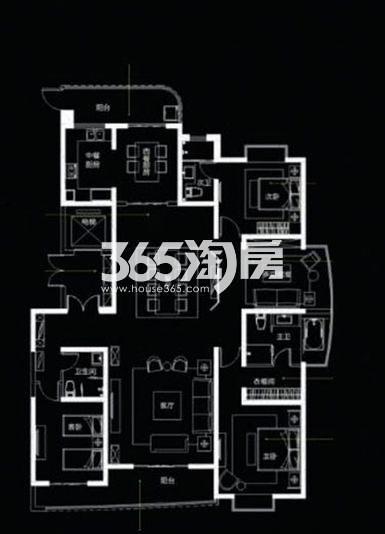 国润城4室3厅1厨3卫199.98㎡