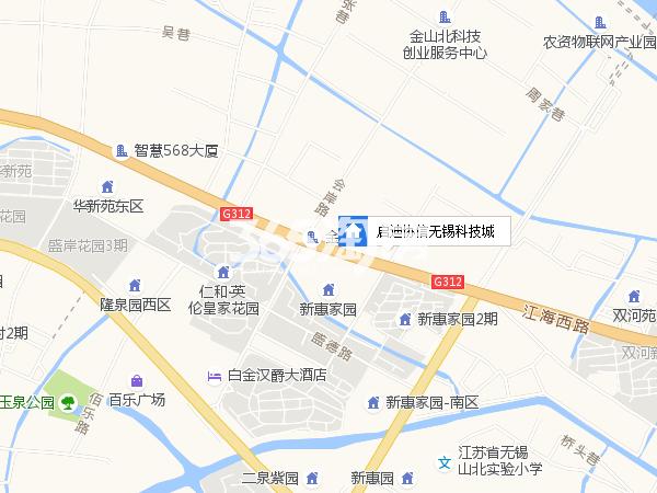 启迪协信无锡科技城区位图