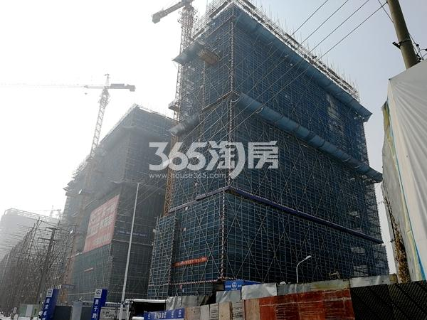 星光天地北侧、东侧楼栋工程进度(2018.1)