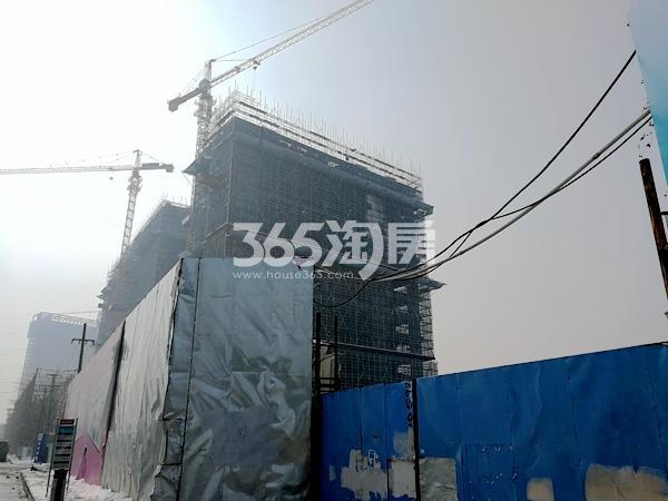 星光天地北侧楼栋工程进度(2018.1)