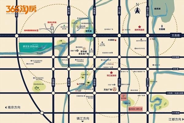 雅居乐富春山居交通图