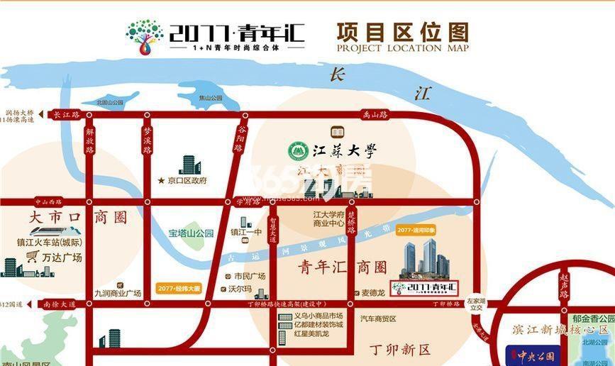 2077青年汇交通图