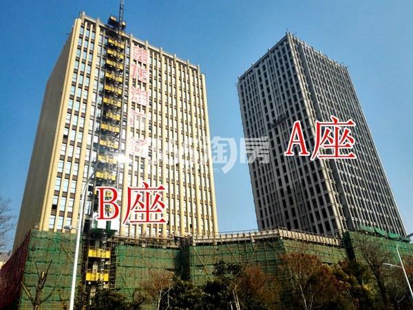 金龙湖广场A、B座工地整体实景图(12.18)