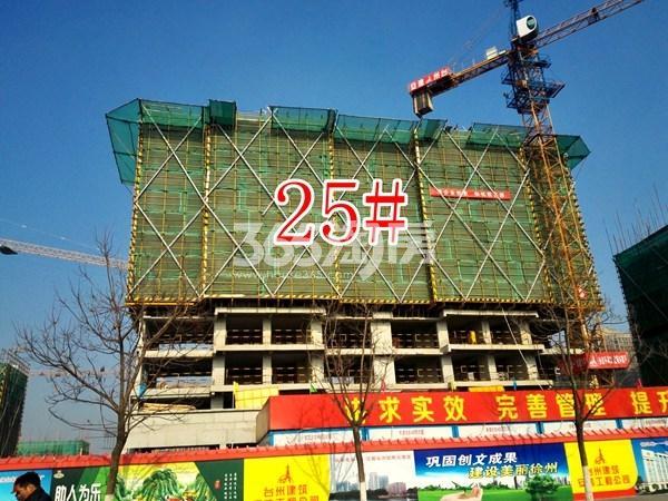 保利合景珑湾25#工地实景图(12.18)