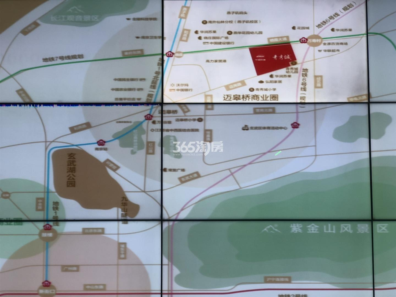 中国铁建青秀城交通图