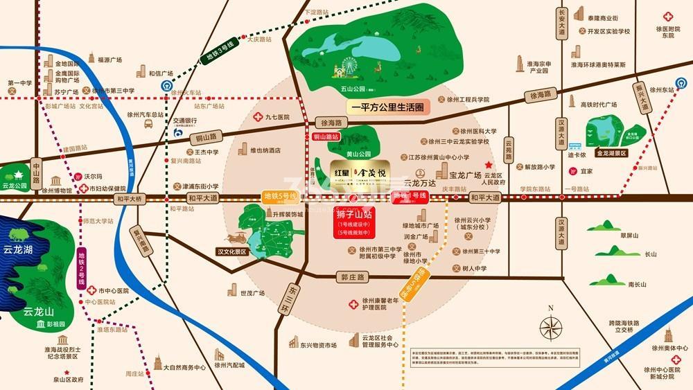 红星云龙金茂悦交通图