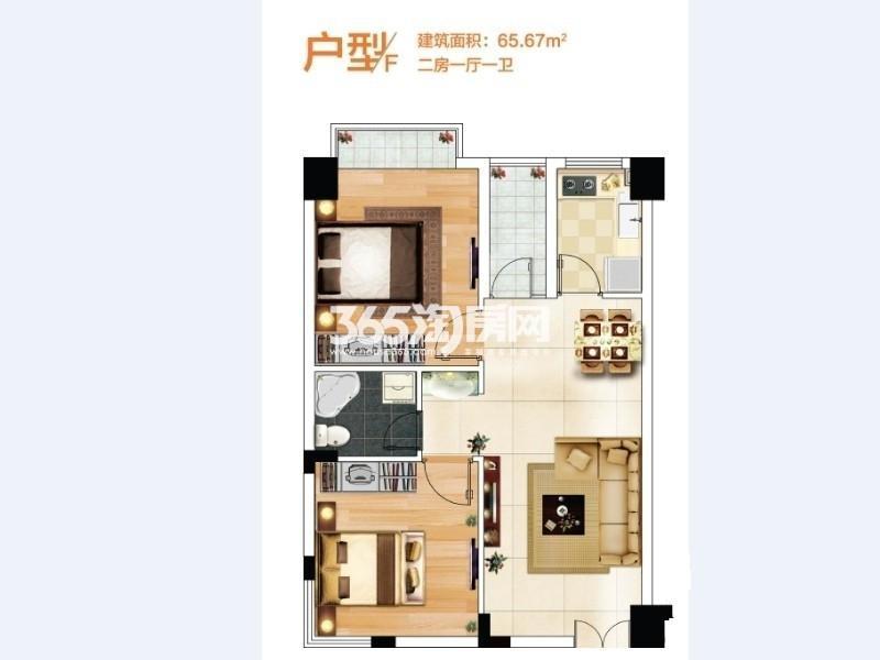 奥特莱斯V公寓户型图