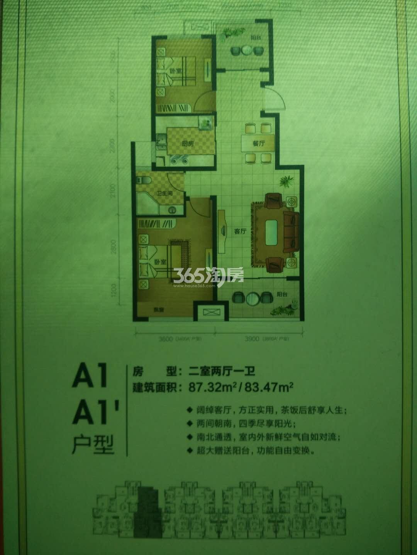 东方公馆A1、A1'户型图