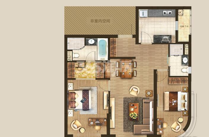丰隆城市中心T1-70年产权公寓D-1-5户型