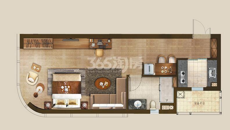 丰隆城市中心T1-70年产权公寓A2-1户型