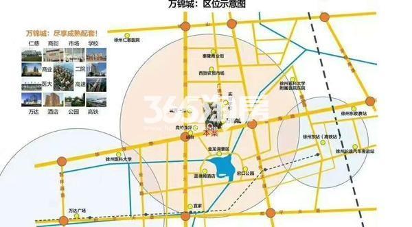 城置万锦城交通图