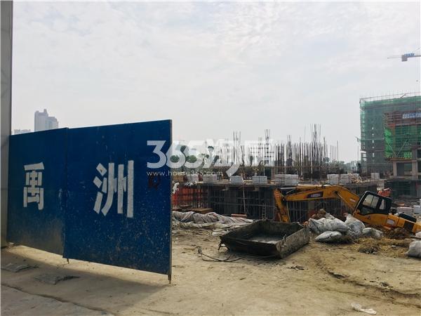禹洲栖湖朗廷 项目工地实拍图 201812
