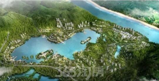 闽侯金水湖项目示意图