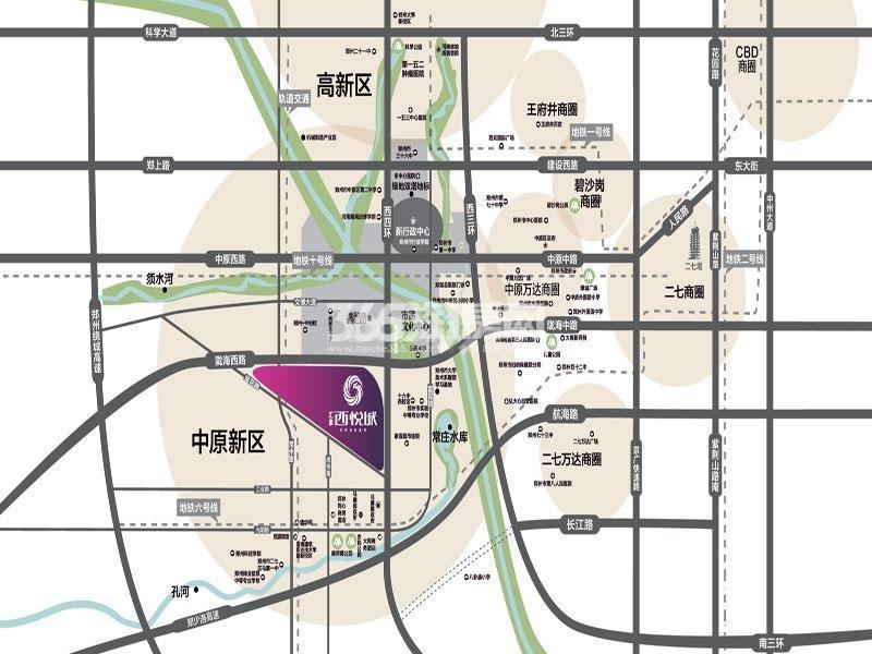 汇泉西悦城交通图