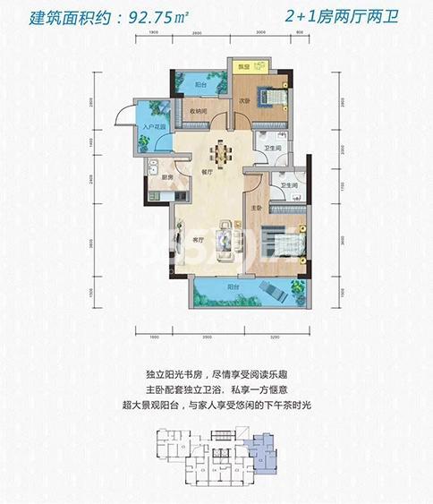 穗丰金湾三室户型图