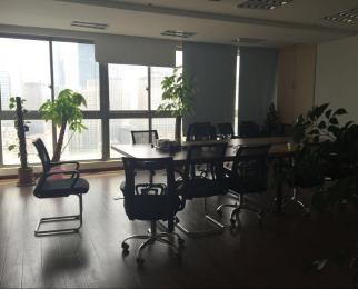 珠江路华利国际大厦南半层800�O可注册公司整租地铁精装