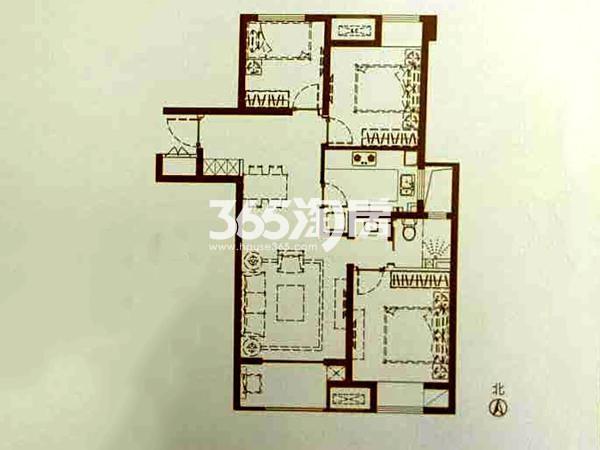 B4-1户型 3室2厅1卫 面积:99㎡