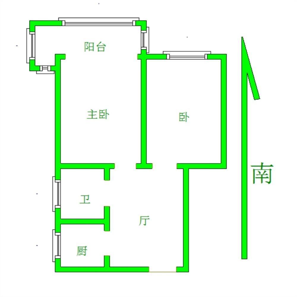 鼓楼区华侨路上海路9号2室2厅户型图