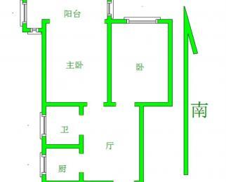 上海路地铁站 省中医院 华侨路 汉中路 2房大客厅 拎包住