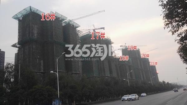 恒大滨河左岸二期16-21#工程实景(11.8)