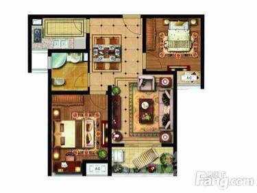 雨润广场2室2厅1卫82平米毛坯产权房2015年建