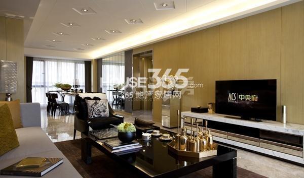 雅居乐中心广场8#楼160平样板间客厅