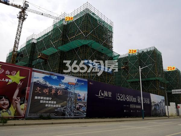 新力帝泊湾21#、22#、23#楼小高层工程进度实景(2018.6摄)