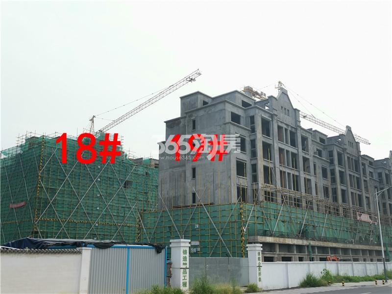 绿地理想城悦湖公馆在建18、19#楼实景图(8.26)