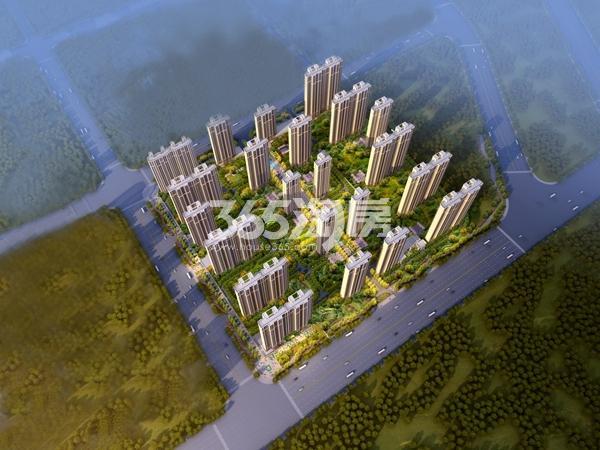 绿地智慧金融城鸟瞰图